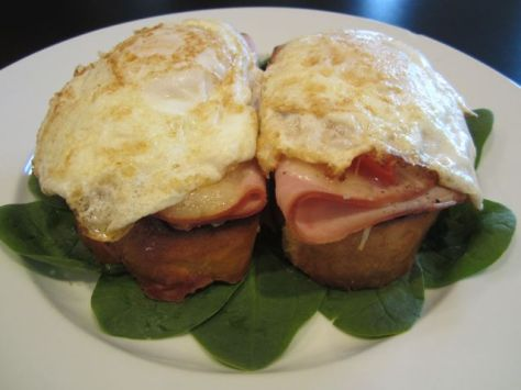 Open-Face Croque Monsieur (Ham and Cheese with Eggs)