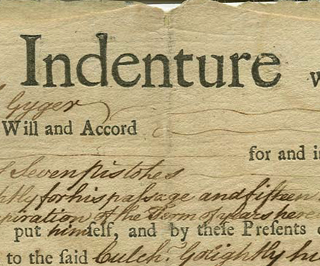 Indentured Servant Note