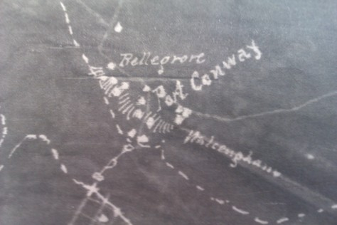 Map of Port Conway and Belle Grove - 1854