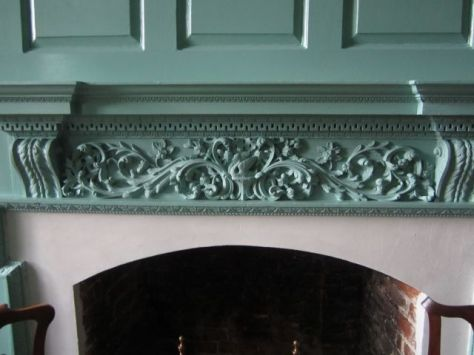 Betty Washington Lewis's Fireplace Details