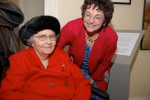 The author, Beth Taylor, with Sylvia Jennings Alexander, February 2009
