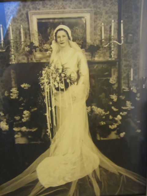 Aubry Holladay (circa 1934) in her wedding gown