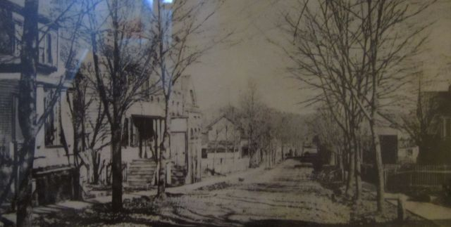 One of the earliest known photographs of West Main Street in Orange, VA (circa 1895), includes the Holladay House.