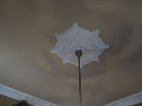 Front Parlor Ceiling Medallion