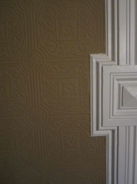 Wallpaper Detail in Back Parlor