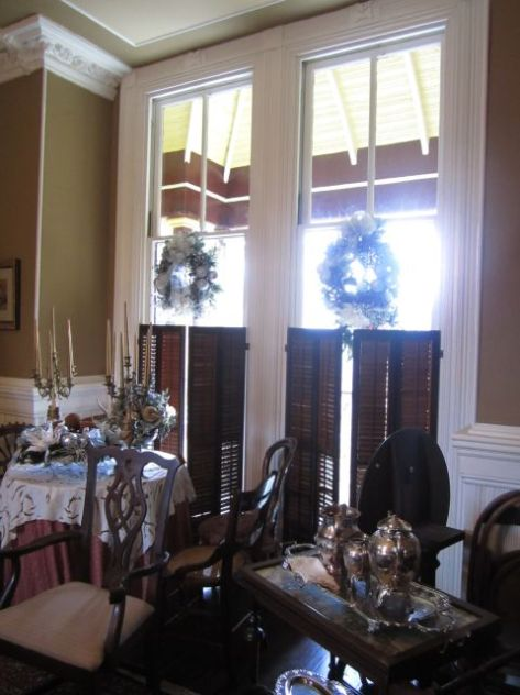 Jeffersonian windows in the Dining Room.These are the windows that you can open up and it becomes a doorway.