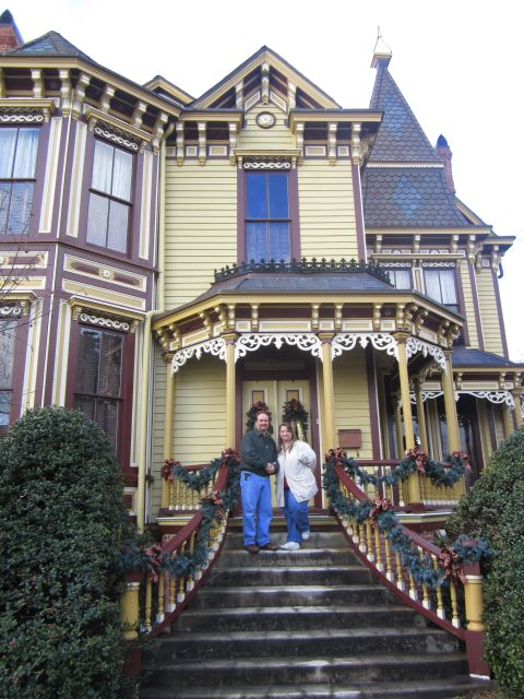 "Brett and Michelle visiting The Thomas House""Mansion on Main"""