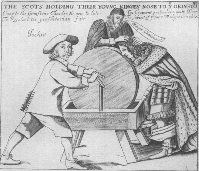 The Scots holding their young king's nose to the grindstone