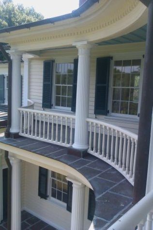 Curved Porches on the Carriage side