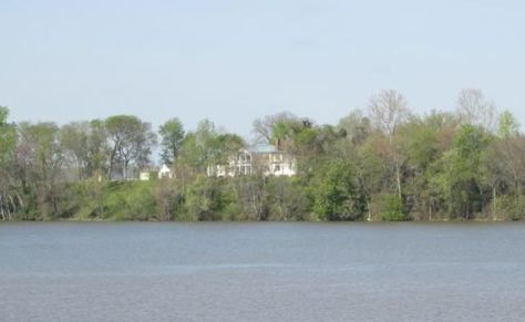 View of Belle Grove from the opposite bank in Port Royal