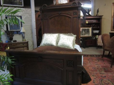 Bed for the Hipkins-Bernard RoomLate 1800s - Eastlake Style