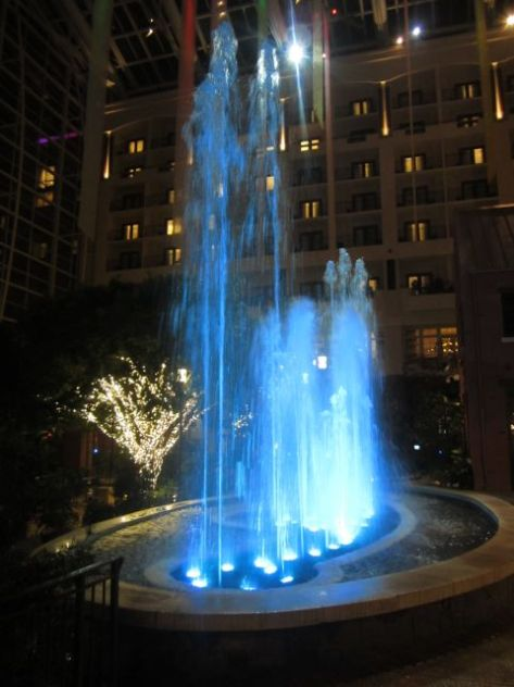"Fountain that ""dances to music"". Look its blue...."