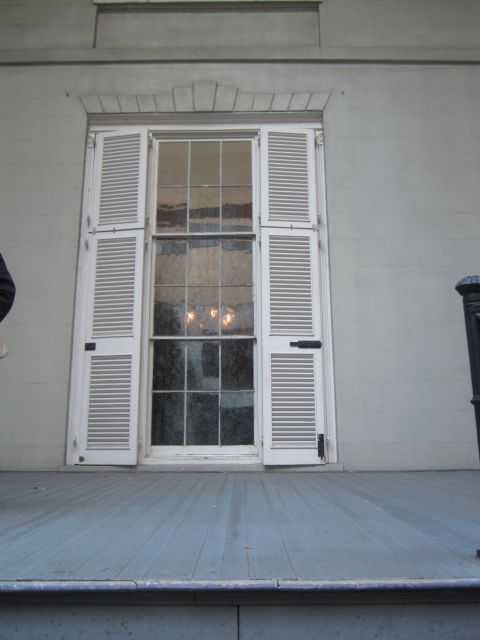 Window on the South Portico