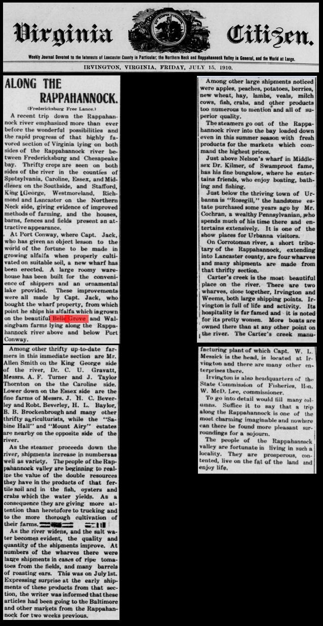 1910 July 15 Irvington's The Virginia Citizen