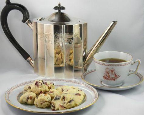 Cranberry Walnut Shortbread Cookies