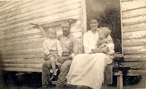 A Tenant and His Family on the Walsingham Plantation, next door to Belle Grove Plantation1906