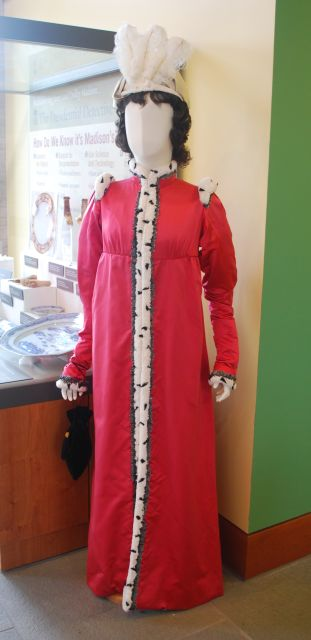 Reproductions of Dolley's Clothesin the Visitors Center