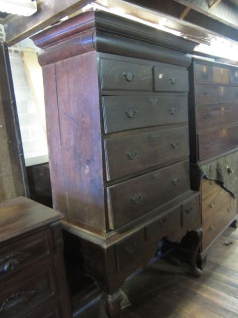 This is early 1800s Highboy with all the original hardware! Could it be for our Conway Junior Suite?