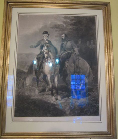 """This an engraving called """"Last Meeting"""" of Robert E Lee and Stonewall Jackson. I would love to see it in the Library."""