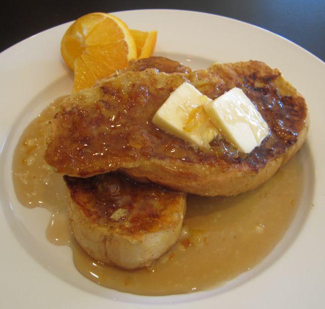 French Toast with Caramelized Cinnamon Orange Sugar