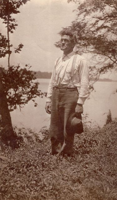 Taken along the Rappahannock River at Belle Grove when he managed the estate there.