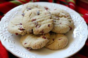 Cranberry-Orange Macadamia Butter Cookies