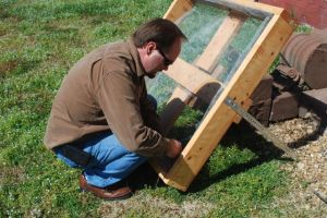 Brett builds the nest platform