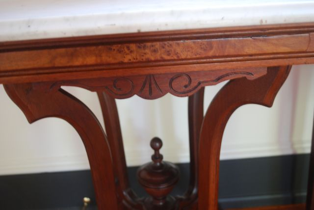 Marble Top End Table - details