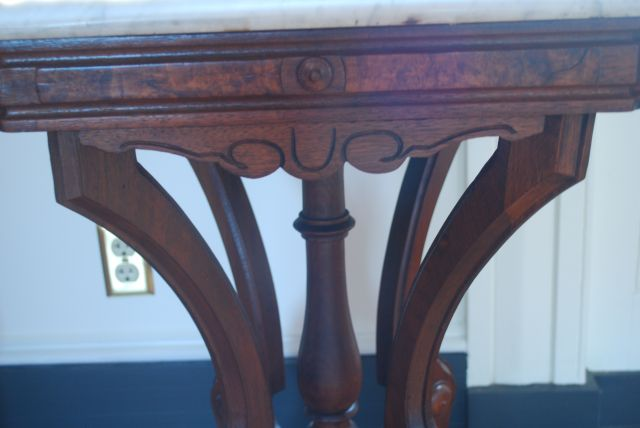 Marble Top End Table - detail