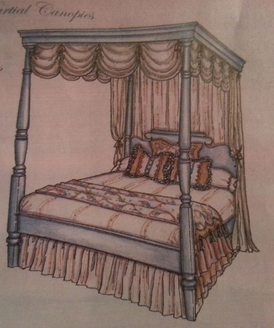Canopy Style for the Madison Bed - without wood detail around top
