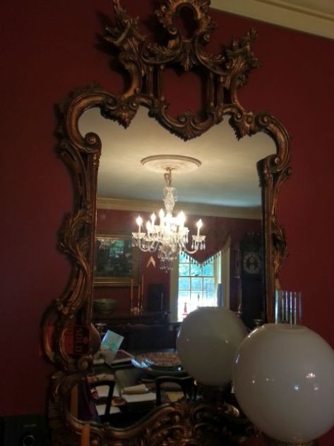 "Two Mirrors for the Parlor with their ""Sold"" tags!"