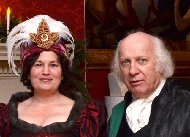 Mr. and Mrs. Madison (Dr. Lynn Uzzell and John Douglas Hall)