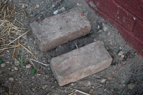 Brick on the top is from the foundation in the south side yard. Bottom is from the 1900 water fountain.
