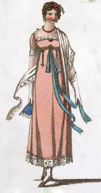 Regency Fashion - High Waisted Dancing Dress 1810