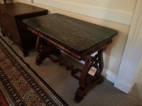 Egyptian Black Marble Serving Table
