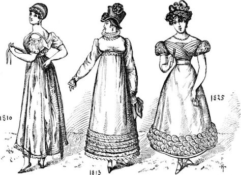Regency Fashion -  1820 to 1850