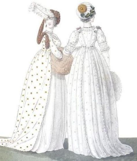 Regency Fashion - High waisted gowns 1794-1802