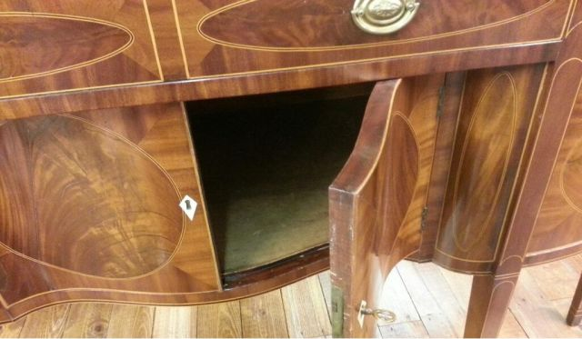 Early 1800s Sideboard - The doors are curved!