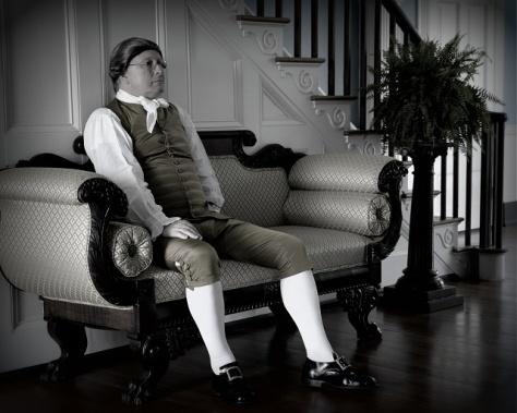Gentleman in hall